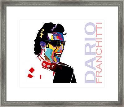 Dario Franchitti Pop Art Style Framed Print by Jim Bryson