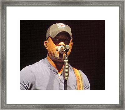 Darius Rucker Live Framed Print
