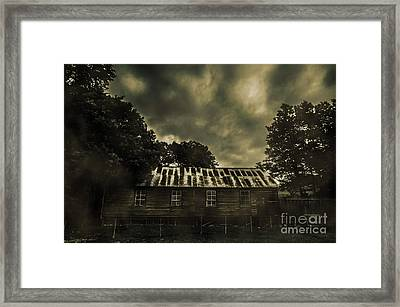 Dark Abandoned Barn Framed Print