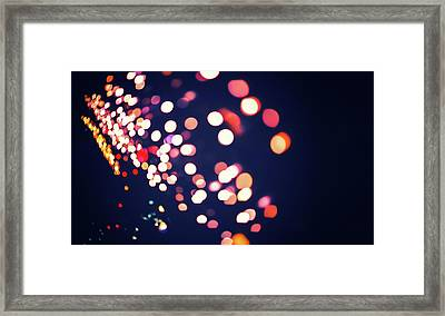 Dark Abstract Bokeh Lights - Art Photography  Framed Print by Wall Art Prints
