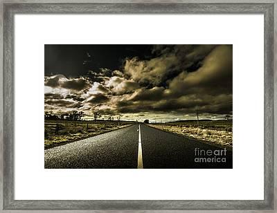 Dark Adventure Ahead Framed Print