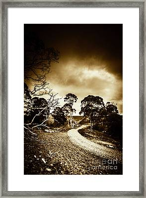 Dark And Dim Outback Track Framed Print by Jorgo Photography - Wall Art Gallery