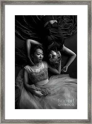 Dark And Light, Good And Evil Framed Print