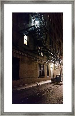 Dark And Rainy Night Framed Print