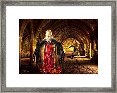 Dark Angel Framed Print by Svetlana Sewell
