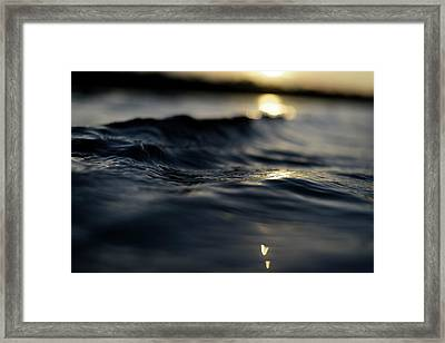 Dark Atlantic Traces Framed Print by Laura Fasulo