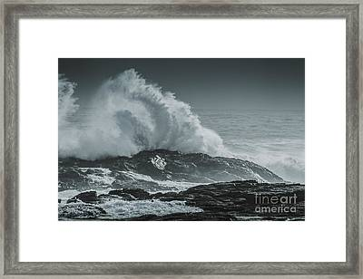 Dark Atmospheric Coastline Framed Print by Jorgo Photography - Wall Art Gallery