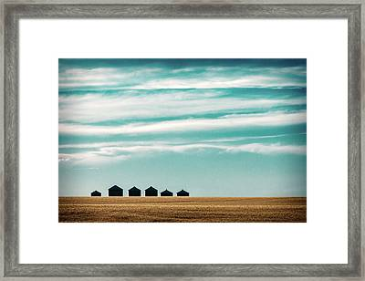 Dark Bins Framed Print