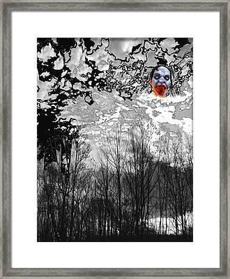 Dark Black Framed Print by Lee M Plate