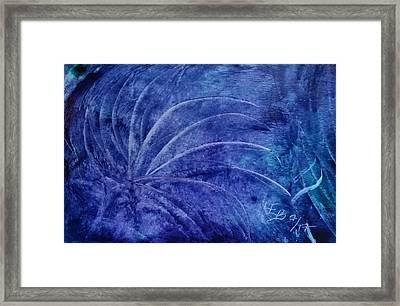 Dark Blue Abstract Framed Print
