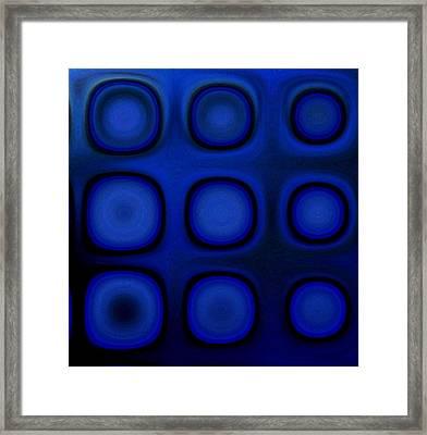 Dark Blue B Framed Print by Patty Vicknair