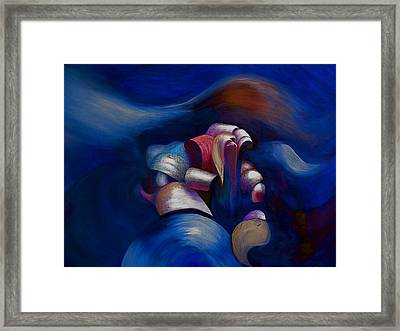 Dark Blue Framed Print
