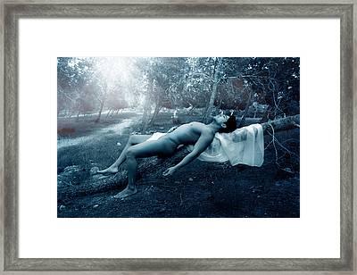 Dark Blue  Framed Print