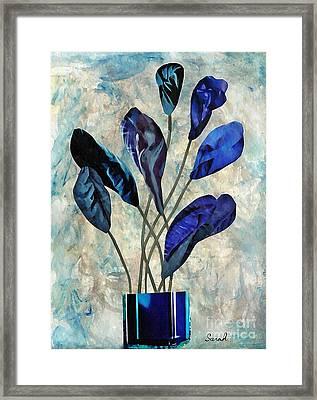 Dark Blue Framed Print by Sarah Loft