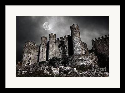 Spooky Moon Framed Prints