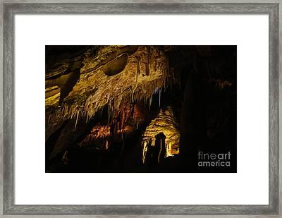 Dark Cave Framed Print by Oscar Moreno