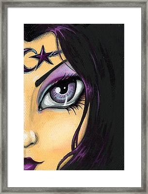 Dark Celestial Goddess Framed Print by Elaina  Wagner