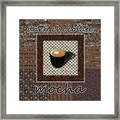 Dark Chocolate Mocha - Coffee Art Framed Print by Anastasiya Malakhova