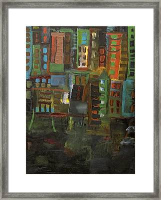 Dark City Framed Print by Maria Curcic