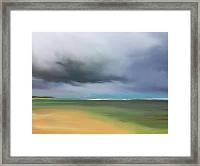 Dark Cloud - Punta Cana Framed Print by Dennis Kirby