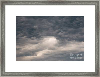 Dark Clouds On The Sky Framed Print by Michal Boubin
