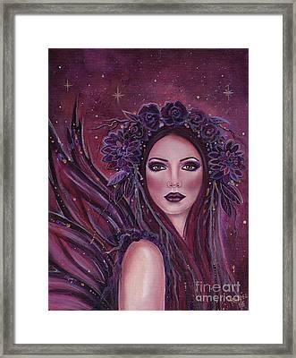 Dark Dahlia Fairy Framed Print