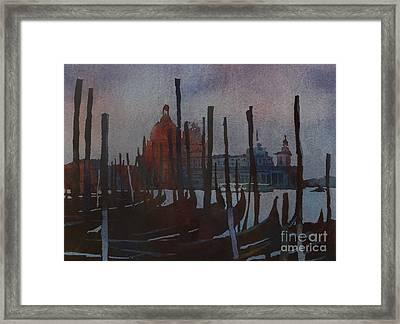 Dark Day In Venice Framed Print