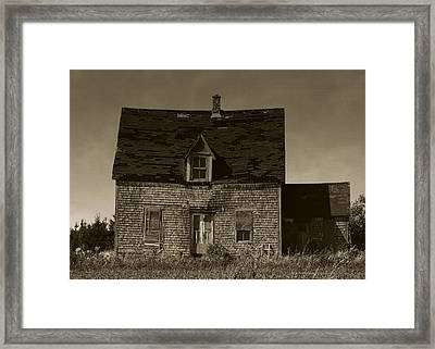 Framed Print featuring the photograph Dark Day On Lonely Street by RC DeWinter