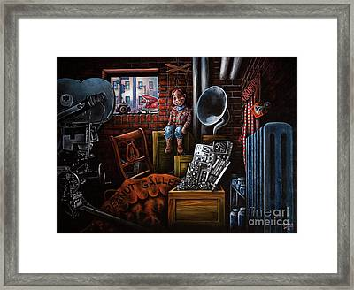 Framed Print featuring the painting Dark Exile by Michael Frank