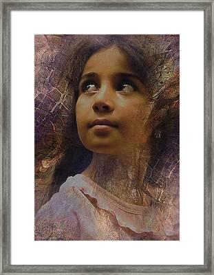 Dark Eyed Beauty Framed Print