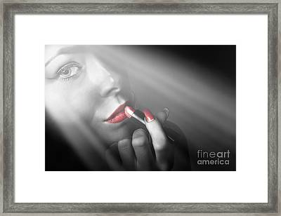 Dark Fashion And Make Up Beauty Framed Print by Jorgo Photography - Wall Art Gallery