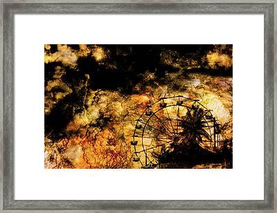 Dark Ferris Wheel Framed Print