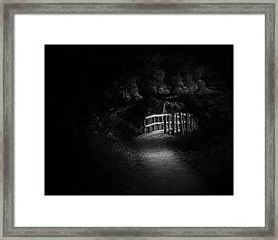 Dark Footbridge Framed Print
