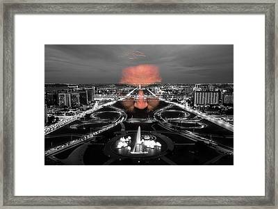 Dark Forces Controlling The City Framed Print