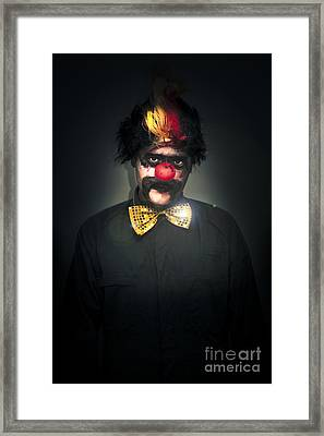 Dark Foreboding Clown Framed Print by Jorgo Photography - Wall Art Gallery
