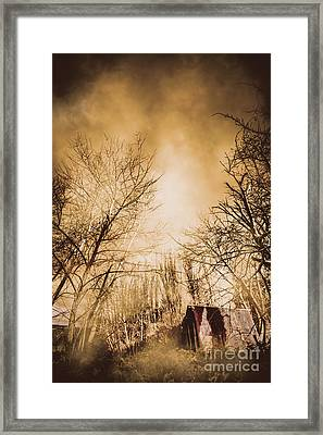Dark Forest Hut Framed Print by Jorgo Photography - Wall Art Gallery