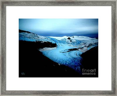 Dark Glacier Framed Print