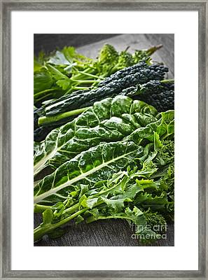Dark Green Leafy Vegetables Framed Print