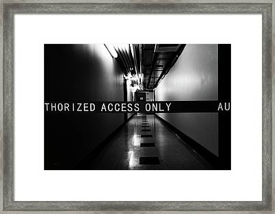 Dark Hallway Framed Print