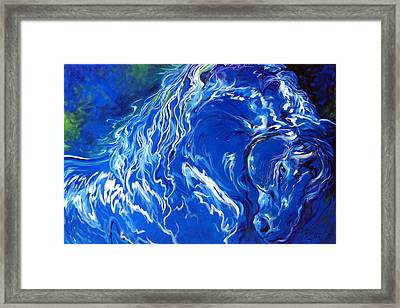 Dark Horse Abstract Framed Print by Marcia Baldwin