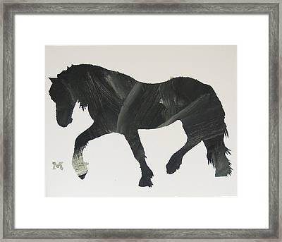 Dark Horse Coming Framed Print