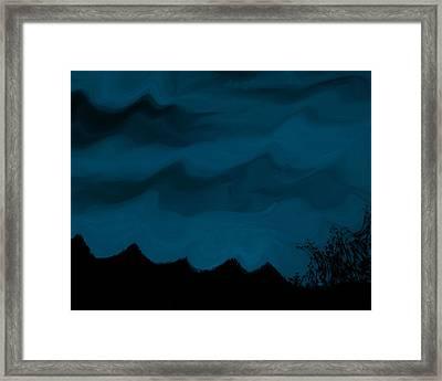 Dark Is The Night Framed Print