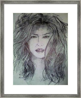 Dark Jessica Biel Framed Print