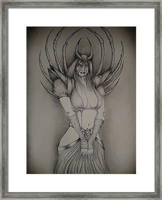 Dark Lady Framed Print