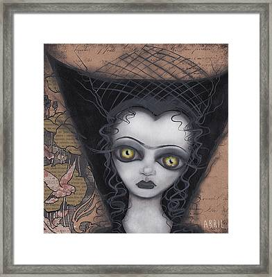 Dark Lily Framed Print by Abril Andrade Griffith