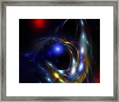 Dark Matter Revealed Framed Print