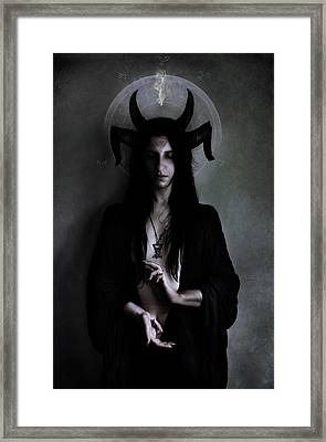 Dark Meditation Framed Print by Cambion Art