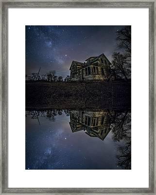 Framed Print featuring the photograph Dark Mirror by Aaron J Groen
