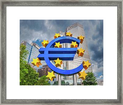 Money Troubles Framed Print