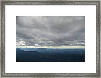 Dark Mountains Framed Print